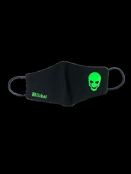 Ullikat - Gesichtsmaske Ullikat Skull-Neon Grün
