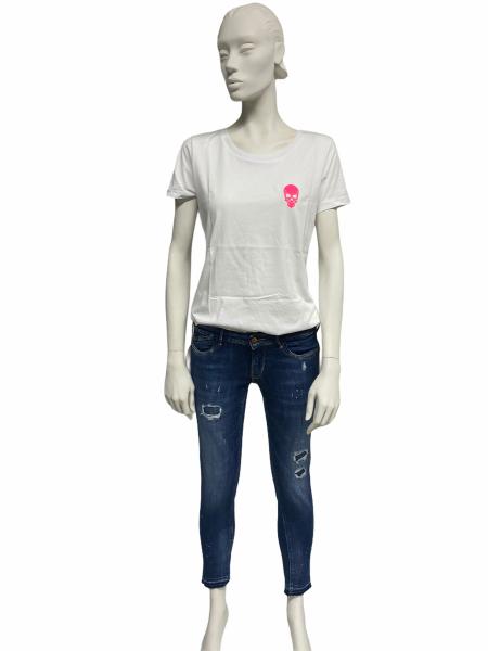 Ullikat - T-Shirt - Damen weiß/pink