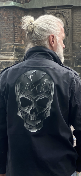 Army Jacket - Skull White Black