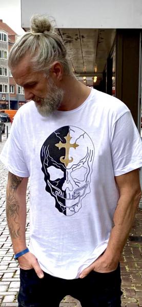 Ullikat - T-Shirt - Herren Black/White Skull
