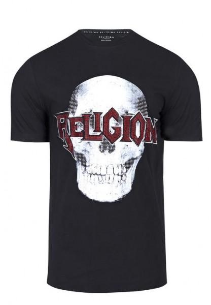 Religion - Bling Skull T Shirt Schwarz