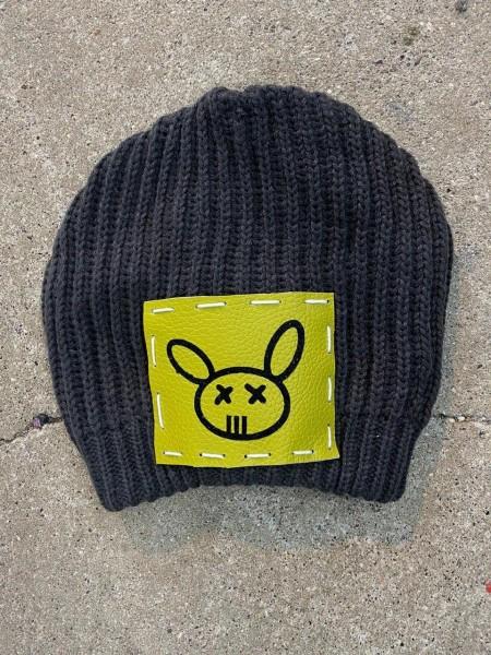 Ullikat - Beanie Grau Weiss Neon Dead Rabbit