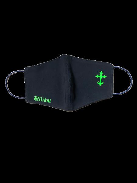 Ullikat - Gesichtsmaske Ullikat Kreuz-Neon Grün