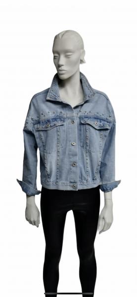 Jeansjacke Nieten Oversize