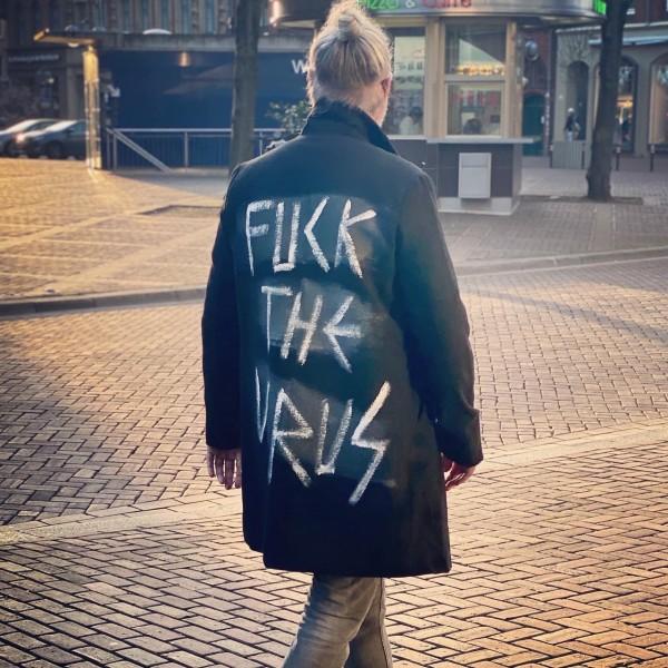Fuck the Virus - Mantel schwarz/weiß