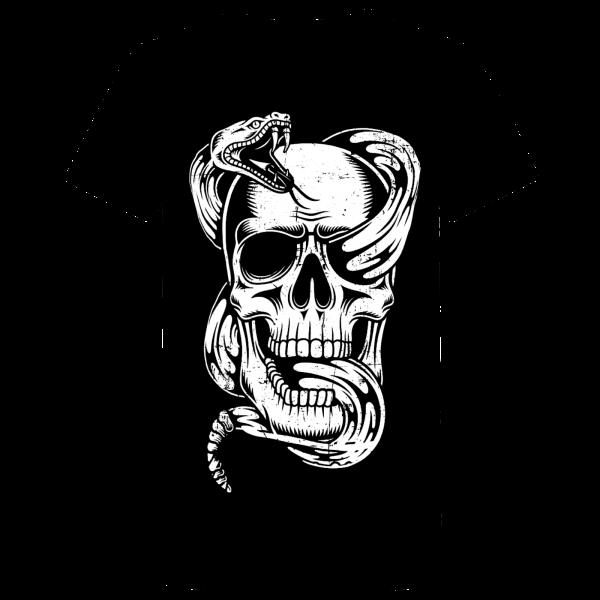 T Shirt - Skull Snake