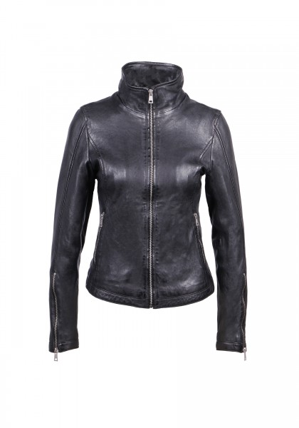Freaky Nation - Damen Lederjacke Schwarz