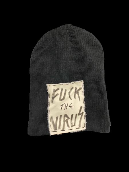 Fuck the Virus - Sommer - Beanie Schwarz Black White