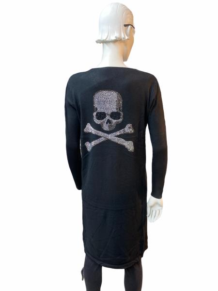 Black Skull Cardigan