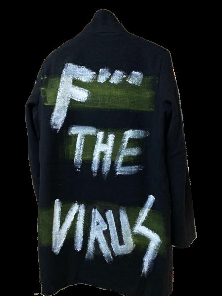 Fuck the Virus - Herren Mantel Schwarz Grün