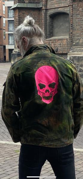 Army Jacket - Pink Skull